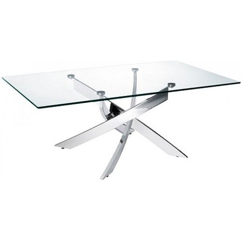 Daytona Glass Coffee Table Rectangular In Clear With...