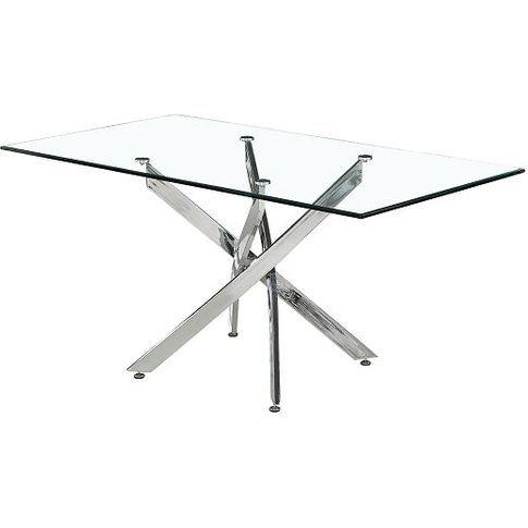 Daytona Glass Dining Table Rectangular In Clear With...