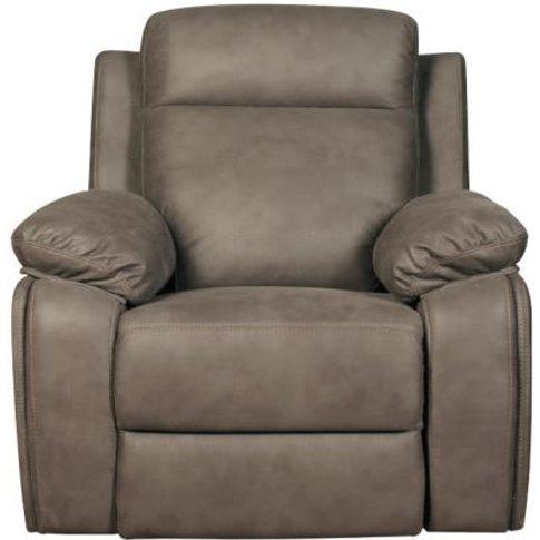 Denton Contemporary Fabric Recliner Sofa Chair In Grey