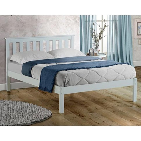 Denver Wooden Low End Double Bed In White