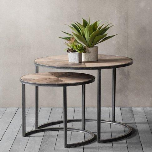 Douglas Set Of 2 Coffee Table With Metallic Base