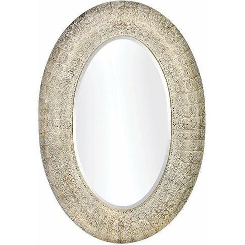 Downtown Wall Mirror In Motif Mesh With Silver Tone ...