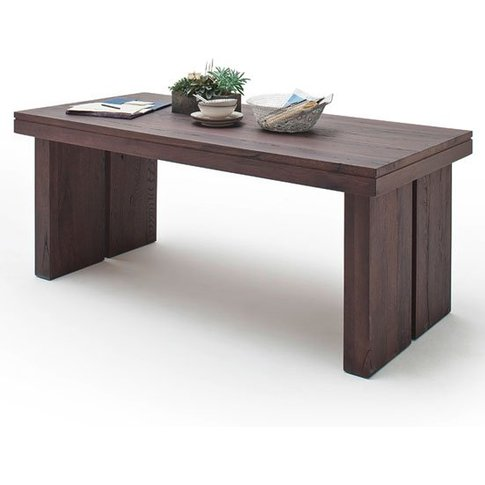 Dublin 260cm Wooden Dining Table In Solid Weathered Oak