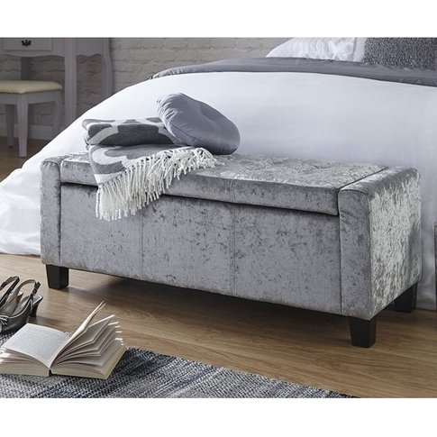Dunston Crushed Velvet Ottoman Storage Blanket Box I...