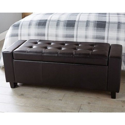 Dunston Faux Leather Ottoman Storage Blanket Box In ...