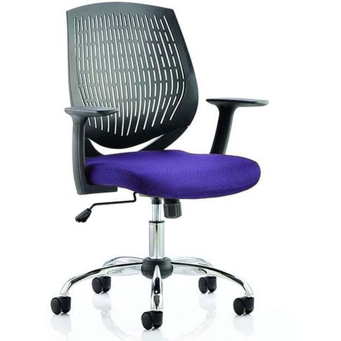Dura Black Back Office Chair With Tansy Purple Seat