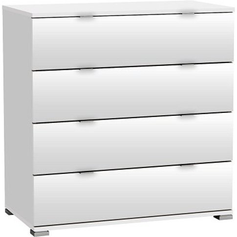 Dylan Chest Of Drawers In Pearl White With 4 Drawers