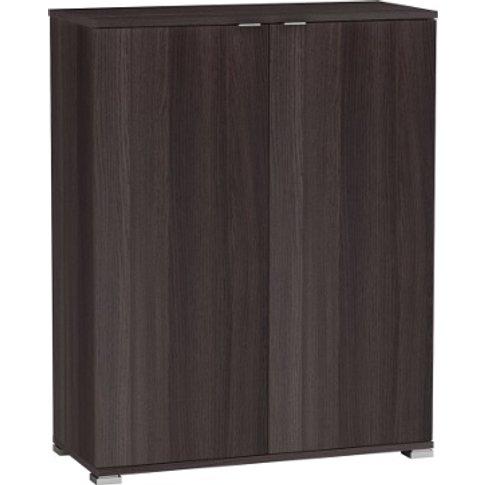 Dylan Wooden Compact Storage Unit In Vulcano Oak