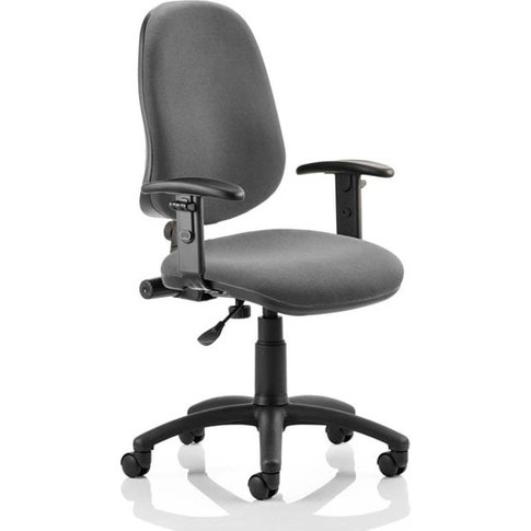 Eclipse Plus I Office Chair In Charcoal With Adjusta...