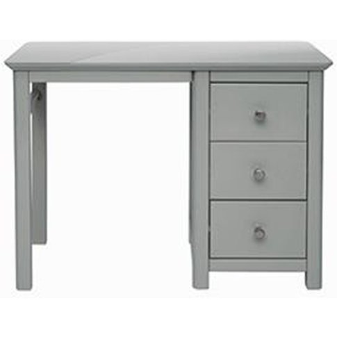 Elgin Single Pedestal Dressing Table In Grey With 3 ...