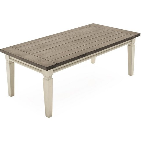 Emery Wooden Coffee Table Rectangular In Antique White
