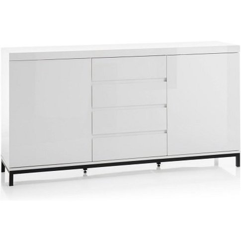 Estonia Modern Sideboard In White High Gloss With 2 ...