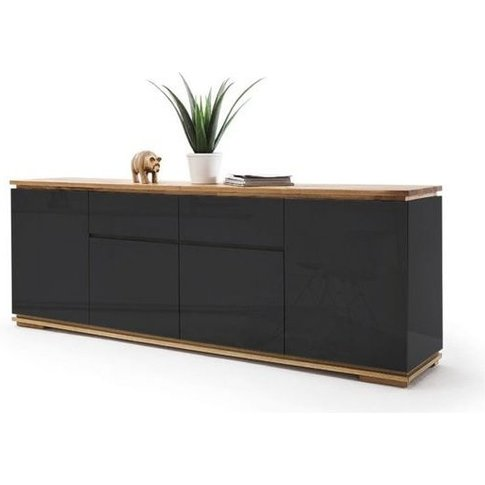 Everly Large Sideboard In Black High Gloss Lacquered...