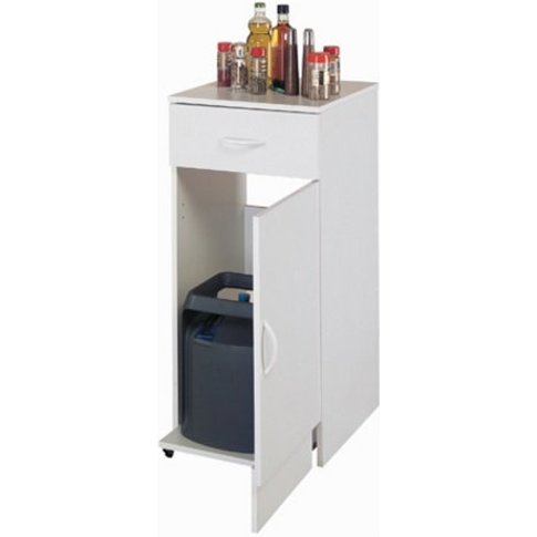 Exeter Storage Cabinet In White With 1 Door And 1 Dr...