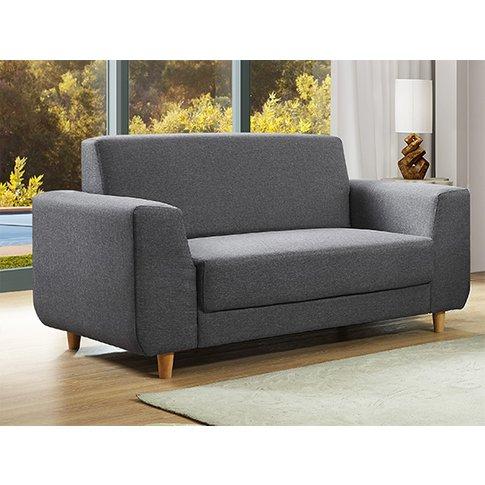 Fida Fabric 2 Seater Sofa In Dark Grey