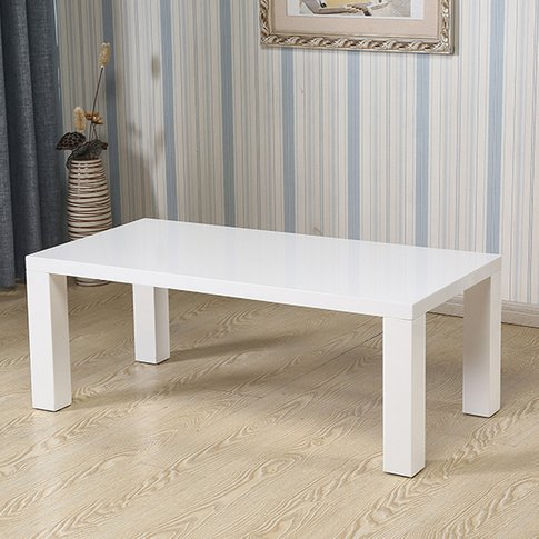 Foxley Wooden Coffee Table In White High Gloss