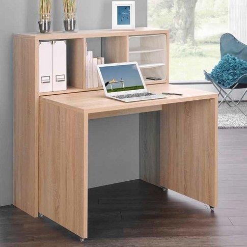 Fraser Contemporary Computer Desk In Sonoma Oak
