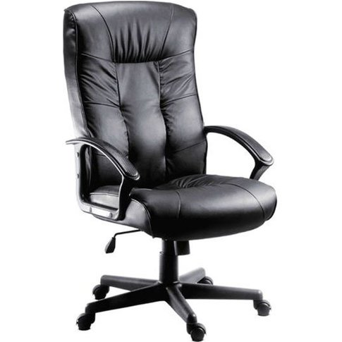 Fraser Executive High Back Office Chair In Black Fau...
