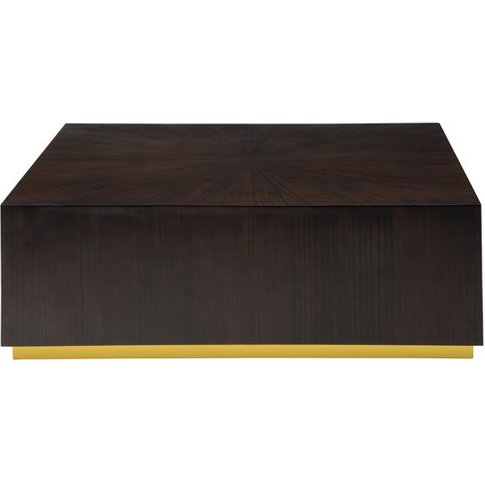 Gablet Square Wooden Coffee Table In Dark Brown