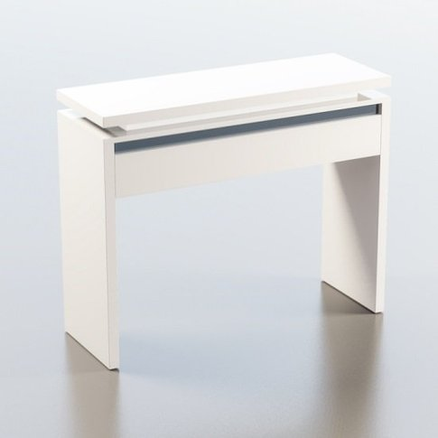 Garde Console Table In White And Black Gloss With Le...