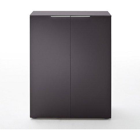 Genie Modern Shoe Cabinet In Matt Anthracite With 2 ...