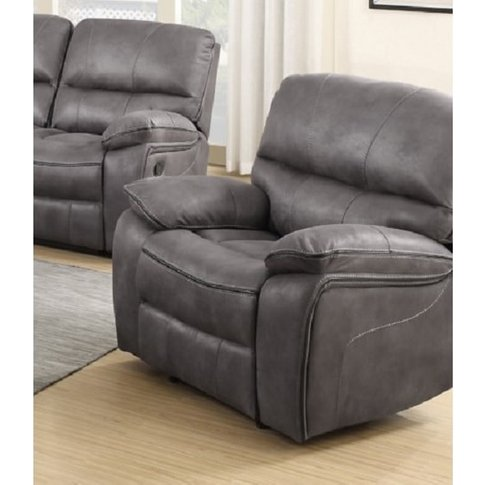 Giana Recliner Sofa Chair In Grey Faux Leather
