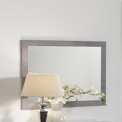 Gianna Wall Mirror Rectangular In Grey Marble Effect...