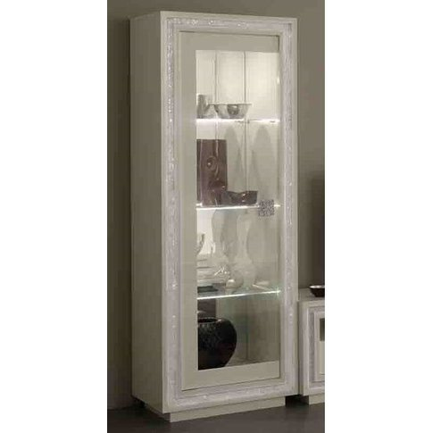 Gloria Display Cabinet In White Gloss With Crystals ...