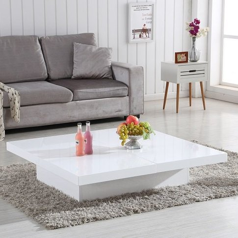 Grande Storage Coffee Table In White High Gloss
