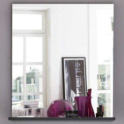 Greeba Wall Mirror In Grey With A Shelf