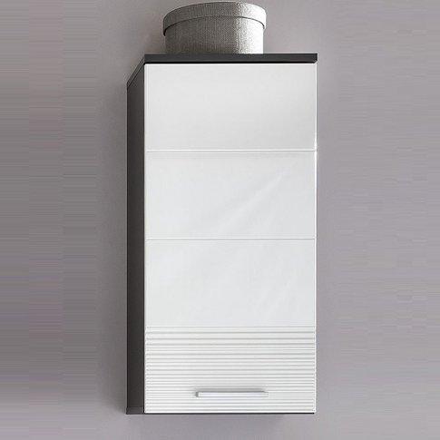 Greeba Wall Mount Bathroom Cabinet In Grey And Gloss...