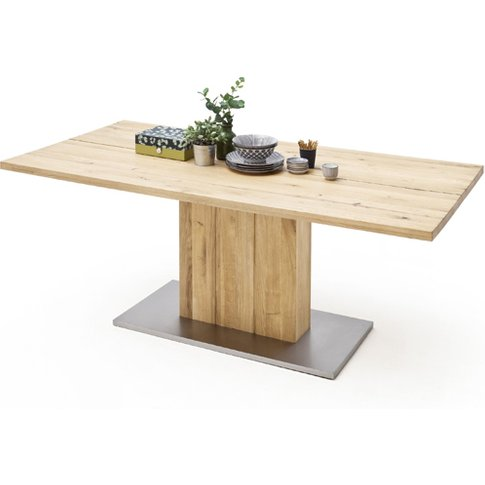 Greta Extra Large Splitted Plate Dining Table In Solid Oak