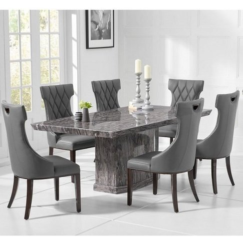 Hamlet Marble Small Grey Dining Table With Four Tybr...