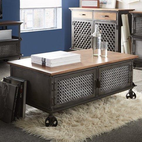 Harlow Coffee Table In Hardwood And Reclaimed Metal ...
