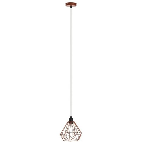 Hartok Metal Wire Frame Pendant Light In Copper
