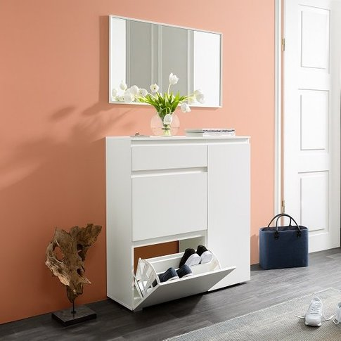 Hilary Wooden Shoe Storage Cabinet In White