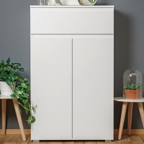 Hilary Modern Wooden Shoe Storage Cabinet In White
