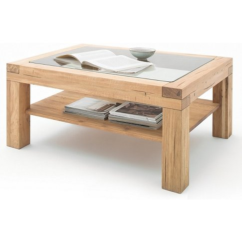 Imago Contemporary Glass Coffee Table Rectangular In...