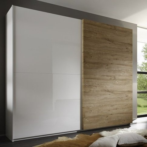 Jaxon 240x210 Sliding Wardrobe In Glossy White And H...