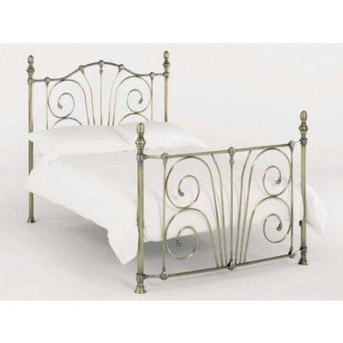 Jessica Metal Double Bed In Antique Nickel