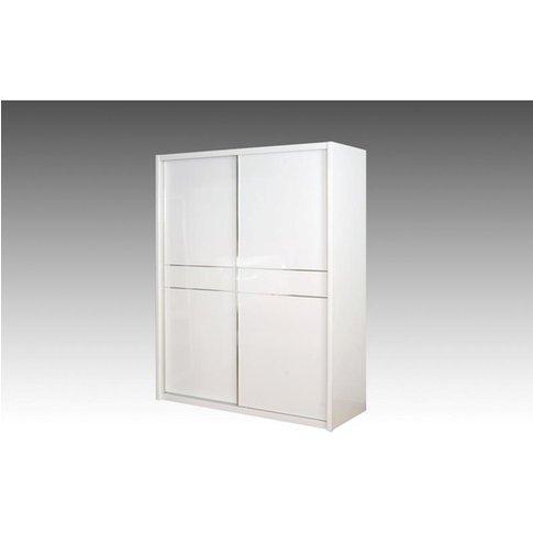 Laura Sliding Wardrobe With High Gloss 2 Doors