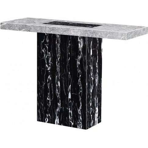 Kabino Marble Console Table Rectangular In White And...