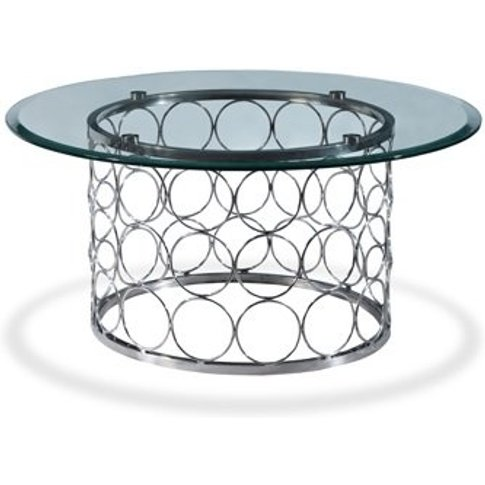 Kayla Glass Coffee Table In Clear With Chrome Finish Base