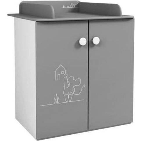 Kelby Chest Of Drawers In Pearl White And Grey With ...