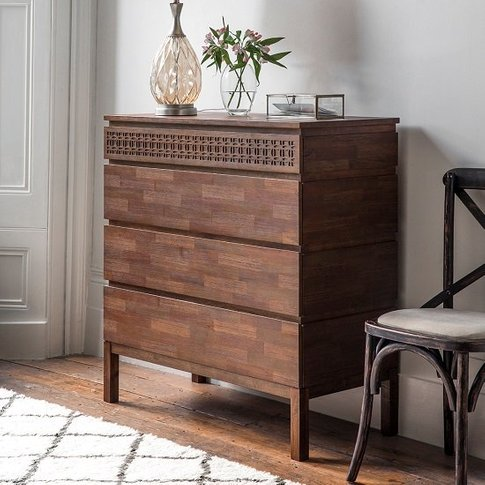 Kelton Retreat Wooden Chest Of Drawers In Mango Wood