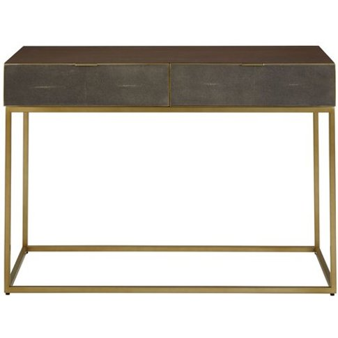 Kempton Wooden Console Table In Brown