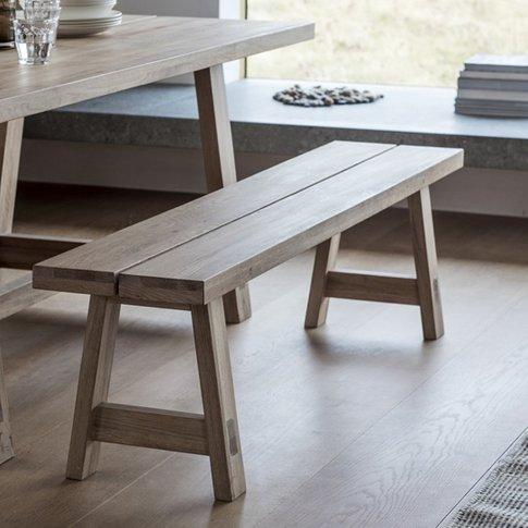 Kielder Wooden Dining Bench In Solid Oak