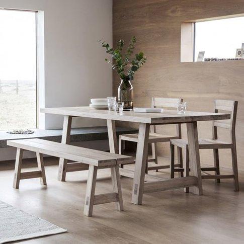 Kielder Wooden Dining Table In Solid Oak