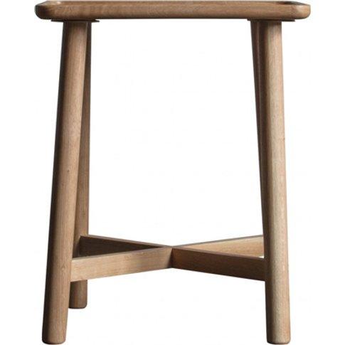 Kingham Wooden Side Table In Oak