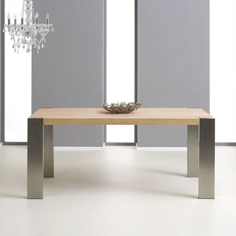 Knightsbridge Extending Wooden Dining Table With Bru...